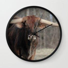 Long Horn Fine Art Photography Wall Clock