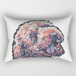 Labradoodle Doodle Dog Portrait bright colorful Pop Art Paintin by LEA Rectangular Pillow