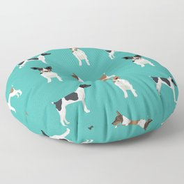 Rat Terrier dog breed pet art dog pattern gifts unique pure breed Floor Pillow