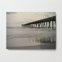 Clouds at Dusk Johnny Mercer's Pier Wrightsville Beach, NC Metal Print
