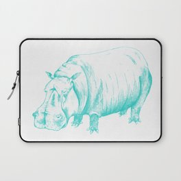 Hippo Turqoise Laptop Sleeve