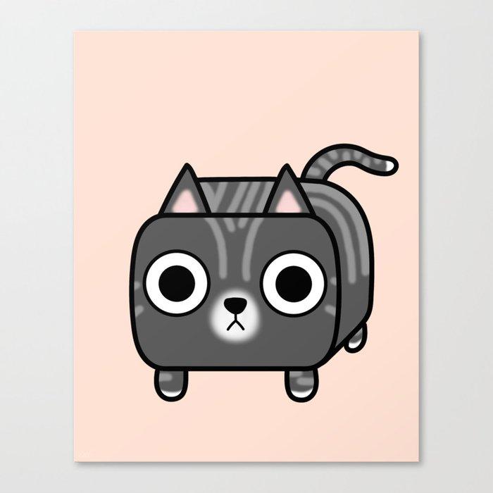 Cat Loaf - Grey Tabby Kitty Canvas Print