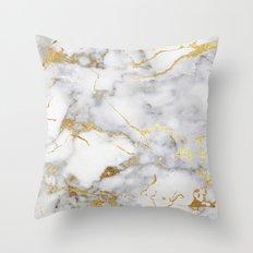 Italian gold marble Throw Pillow