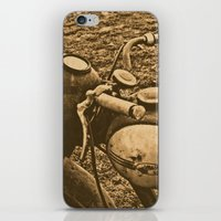 motorcycle iPhone & iPod Skins featuring Jawa motorcycle by AhaC