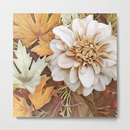 Autumn's Floral Metal Print