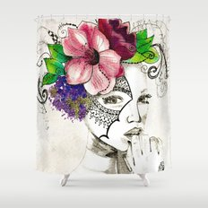 Curiouser & Curiouser Shower Curtain