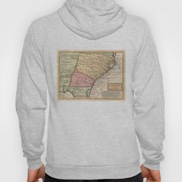 Vintage Map of The Carolinas (1746) Hoody