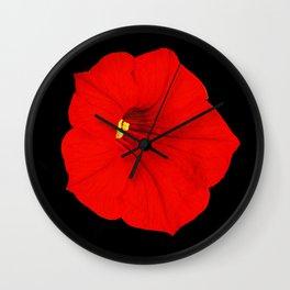 Red petunia Wall Clock