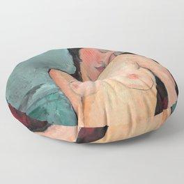 "Amedeo Modigliani ""Female nude (Iris Tree)"" Floor Pillow"
