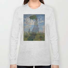 Claude Monet - Woman With A Parasol Long Sleeve T-shirt