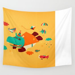 Super Hippo! Wall Tapestry