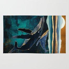 Moonlit Whales Rug