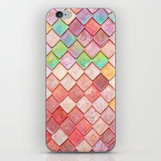 Pink Mermaid Scales iPhone & iPod Skin