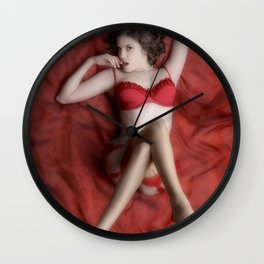 Red on Red Wall Clock