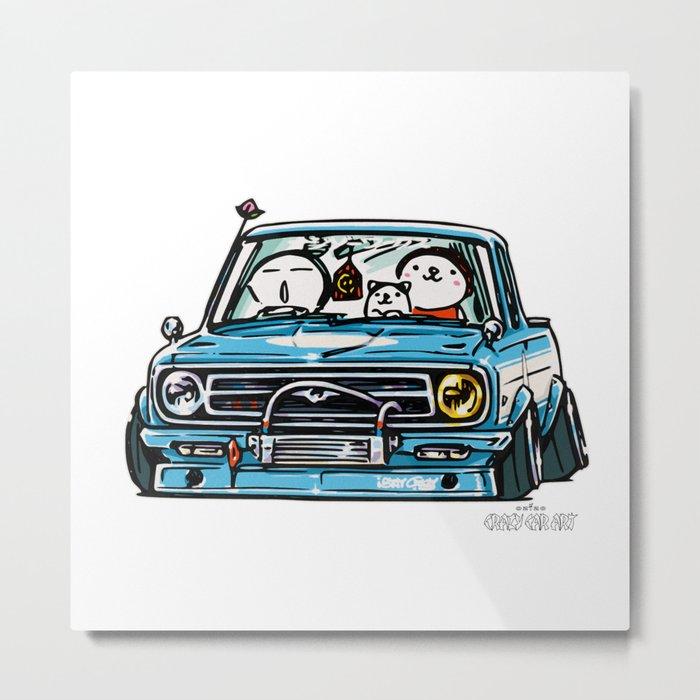 Crazy Car Art 0144 Metal Print