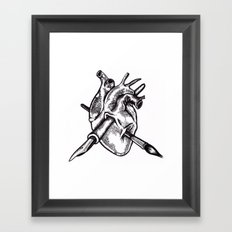 Heart of an artist Framed Art Print