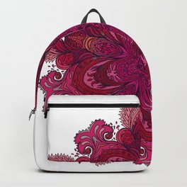 Pink Indian Mandala Backpack