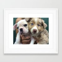 puppies Framed Art Prints featuring Puppies by Camila Mariel