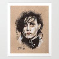 edward scissorhands Art Prints featuring Edward Scissorhands by Stephanie Nuzzolilo