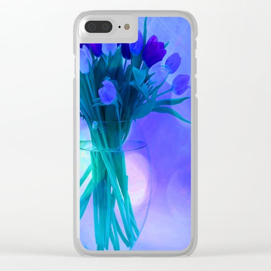 A Blue Bloom for Spring Clear iPhone Case