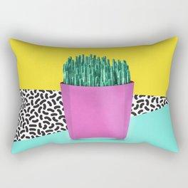 Cactus Fries 90s Style Rectangular Pillow
