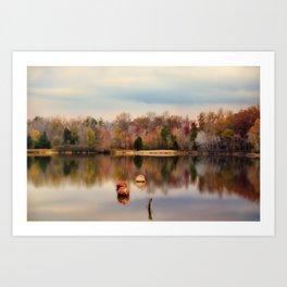 Autumn At Lake LaJoie 3 Art Print