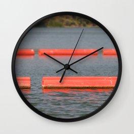Lake Barriers Wall Clock