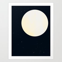 Bright Moon Art Print