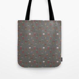 Mushrooms Gray Tote Bag