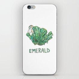 Emerald Gemstone / May Birthstone Watercolor Painting / Illustration iPhone Skin