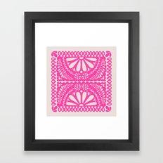 Fiesta de Flores Pink Framed Art Print