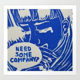 It's Not a Compliment #4 Blue Art Print