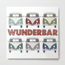 wunderbar – the classic vintage camper van Metal Print