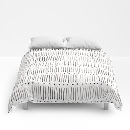Lines and dots Comforters