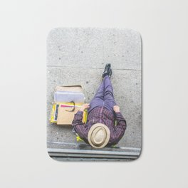 Purple Pants Bath Mat