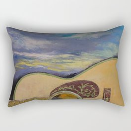 Sunset Guitar Rectangular Pillow