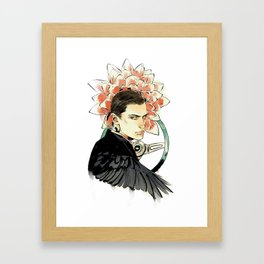 Dahlia Boy Framed Art Print