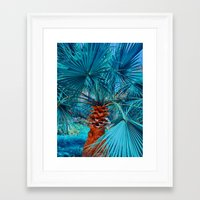 palm tree Framed Art Prints featuring Palm Tree by DistinctyDesign