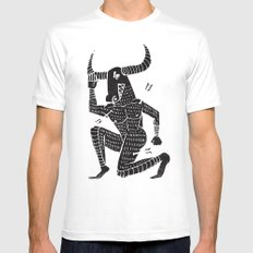 the minotaur Mens Fitted Tee MEDIUM White