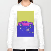 mustang Long Sleeve T-shirts featuring lazer mustang by Crockettsky