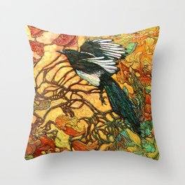 Fortune Collector Throw Pillow