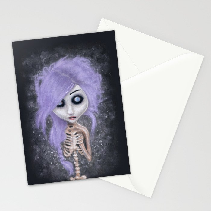 becoming melancholy Stationery Cards