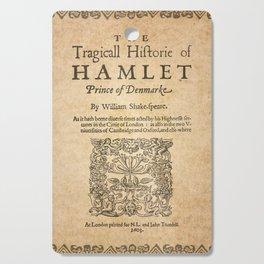 Shakespeare, Hamlet 1603 Cutting Board
