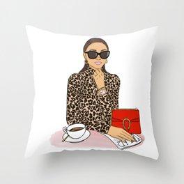 Power Woman Throw Pillow