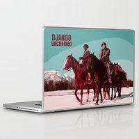 django Laptop & iPad Skins featuring Django Unchained Movie Poster  by FunnyFaceArt