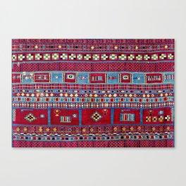 Tunisian Flatweave Antique Tribal Rug Print Canvas Print
