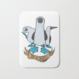 blue foted boobies Bath Mat