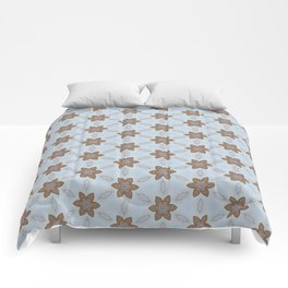 Flower Abstract Comforters