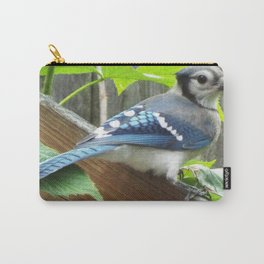 Back yard blue Jay Carry-All Pouch