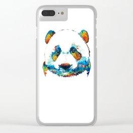 Colorful Panda Bear Art By Sharon Cummings Clear iPhone Case